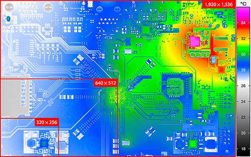 geometrisk upplösning infraröd kamera